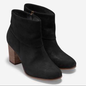 Cole Haan Black Suede Cassidy Ankle Boots 11